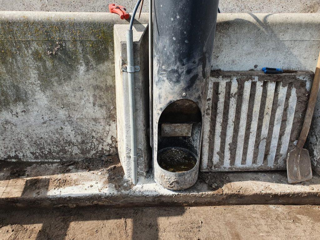 Waterleiding varkensproef gemaakt van 't Krulstaartje